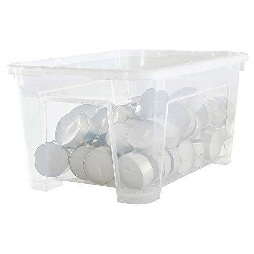 TSWEET Samla Box Caja de Almacenamiento de plástico Caja de Almacenamiento Caja de Acabado Transparente 5 litros IKEA Compra Nacional 14 * 28 * 20cm