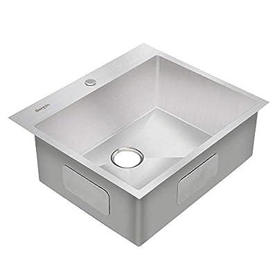Bonnlo T304 Stainless Steel Single Bowl Drop-in Kitchen Sink