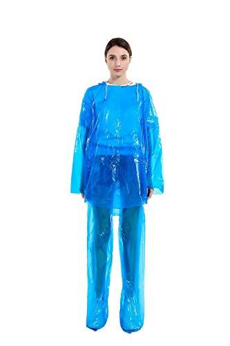 Anti-Contact Split Type Regenjas En Regenbroek Set, Voor Vrouwen Mannen Stofdicht Waterproof Anti-Dirty Disposable Protection Raincoat