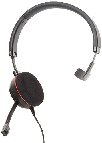 Jabra Evolve 20 MS Wired Headset, Mono Telephone Headset for Greater Productivity, Superior Sound for Calls and Music, USB Connection, All Day Comfort Design, MS Optimized