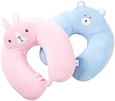 VIENTO Frantic Comfort Neck Pillow(+ Free Eye Cover) ! My Heart Almost Stopped Because it was Very Cute ! (RABIT)