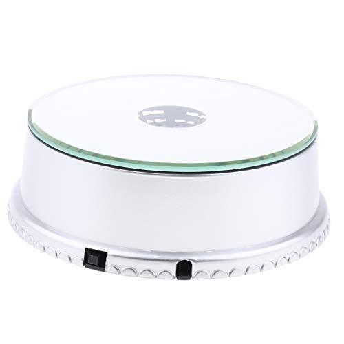 KESOTO Base Girevole A Specchio con Display Rotante con Base Girevole per Display con Luce A LED per Tazze da Fotografia per Gioielli con Telefono - Batteria