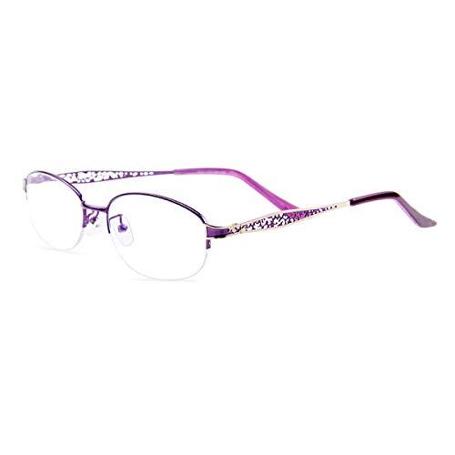 HAOXUAN Gafas de Lectura con Zoom Inteligente, Lente progresiva multifocal asférica, Montura de aleación de Titanio, Antifatiga Luz Azul, Gafas de Lectura Dioptrías +1,00 a +3,00,+2.50