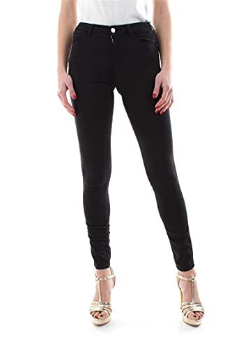 Guess Pantaloni Donna vestibilità Skinny Nero W1GAJ2W77RE-JBLK 28