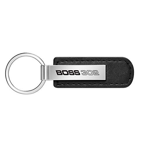 iPick Image - Ford Black Leather Strap Key Chain - Mustang Boss 302