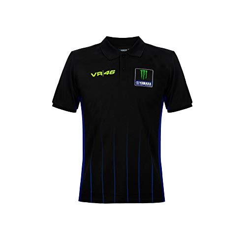 Valentino Rossi Yamaha Dual-Black, Polo Herren, Herren, YMMPO364004001, schwarz, L