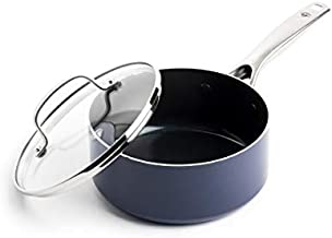 Blue Diamond Cookware Diamond-Infused Nonstick, Saucepan with Lid, 2 QT