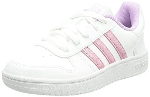 adidas Hoops 2.0 K, Zapatillas de Baloncesto Unisex Adulto, FTWBLA/LILCLA/Gridos, 39 1/3 EU