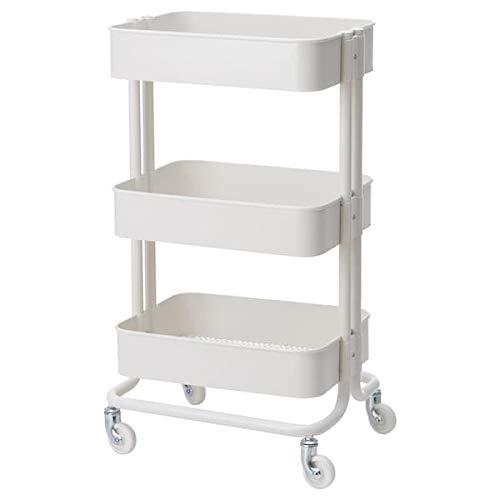 Tok Mark Traders RÅSKOG - Carrito de mesa, color blanco, 35 x 45 x 78 cm, resistente y fácil de cuidar, mesitas auxiliares, mesitas de café y mesas, mesas, escritorios, muebles ecológicos