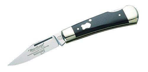 Hartkopf-Solingen Erwachsene Taschenmesser, 1.4110-Stahl, Ebenholz, Neusilberbacken, Mehrfarbig, One Size