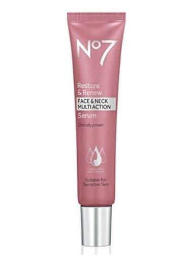 No7, Siero viso e collo multi azione Restore & Renew, 30 ml
