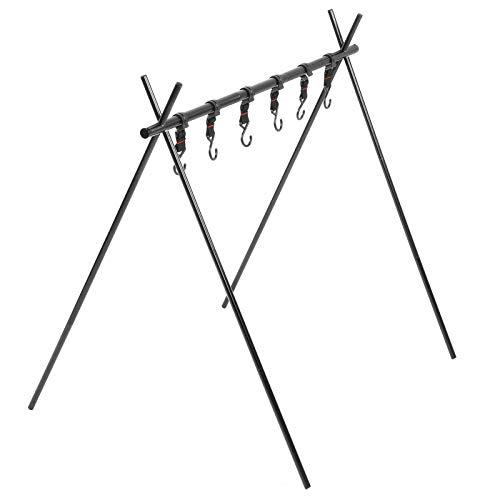 RiToEasysports Camping Hanging Rack mit 6 Haken, die Ihr Camping Gear Cookware Hanging Organizer aufhängen
