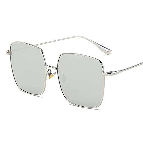 AMFG Gafas de sol de sol de la moda de las señoras Gafas de sol de la estrella de la estrella de la caja europea y estadounidense de los hombres (Color : C)