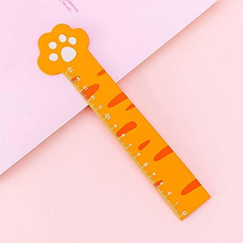 xiangwang Kawaii - Regla de madera multifunción con diseño de pata de gato, herramienta de dibujo para niños, regalo escolar, suministros de papelería (color a
