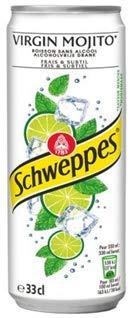 Schweppes MOJITO 24x 330ml (7920ml) - Kohlensäurehaltiges Getränk mit Limette und Minze