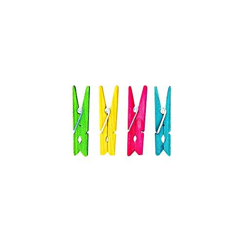 Rayher Pinzas de Madera para Ropa (4,5 cm, 24 Unidades)