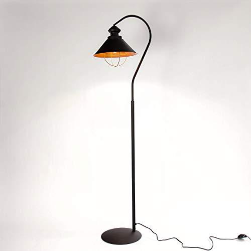 Stehleuchte Metall Industrie Design Braun Kupfer E27 Stehlampe Wohnzimmer Beleuchtung LOFT
