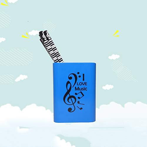 Porta penne per diapositive per musica grande porta penne quadrato treble clef semplice portapenne (stile : C)