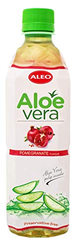 ALEO Aloe Vera Getränk mit Granatapfelgeschmack (12 Fl.zu je 0,5 L ) inkl Pfand