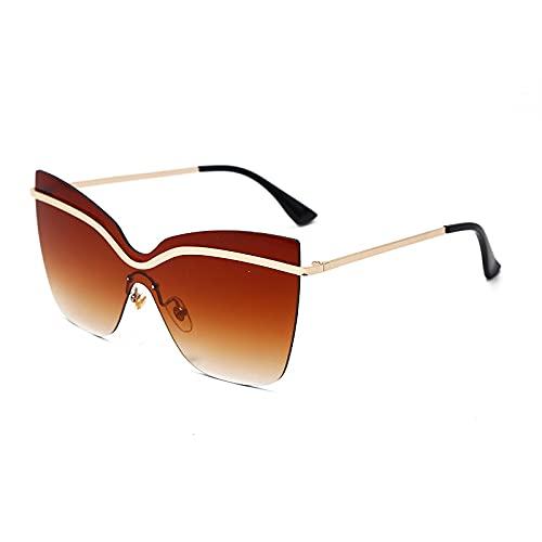 ShZyywrl Gafas De Sol De Moda Unisex Gafas De Sol Cuadradas De Moda para Mujer con Montura Grande, Gafas De Sol De Ojo De Gato para Mujer, Gafas De Sol para Ho