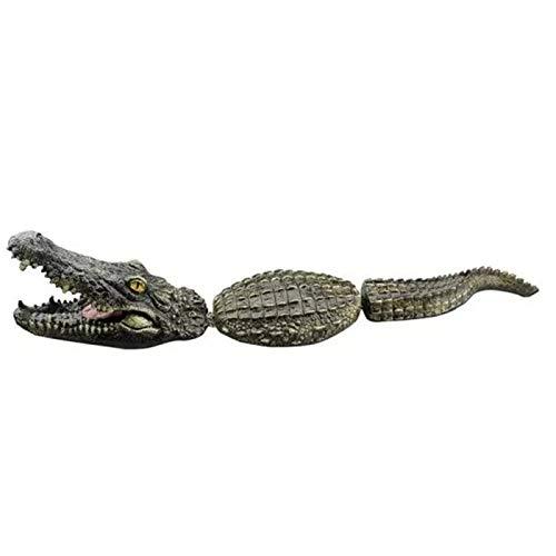 Lanyin Simulation Krokodil Wasser Dekoration für den Außenbereich, 3 Abschnitte, schwimmende Fake Alligator Pool Skulptur Harz Tier Teich Ornament