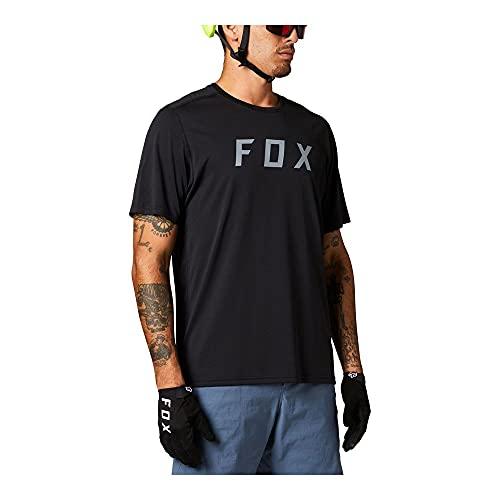 Fox Racing Herren Ranger Short Sleeve Jersey Fox Hemd, schwarz, Medium