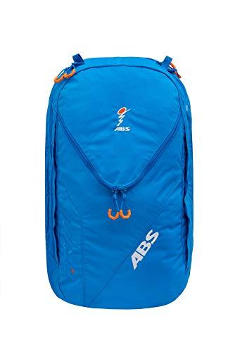 ABS Unisex– Erwachsene Lawinenrucksack Zip-On 18, Packsack für P.Ride Original und Vario Base Unit, Fach für Sicherheitsausrüstung, 18L Volumen, Ski-und Snowboardhalterung, Helmnetz, Ocean Blue