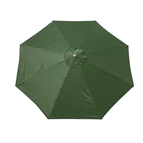 Ersatz-Sonnenschirm-Abdeckung, Markttisch-Regenschirm, Terrassenschirm-Ersatz-Baldachin, 300 cm, 8 Rippen, wasserdicht, langlebig, Ersatzabdeckung für Garten, Terrasse,...