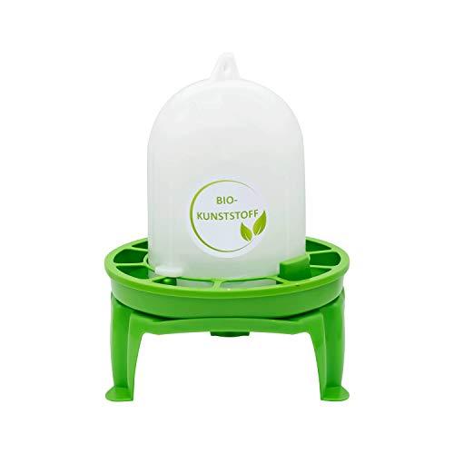 StaWa Bio – Futterautomat 1 kg für Wachteln   Ziergeflügel   Küken   hergestellt in DE   mit Untersatz