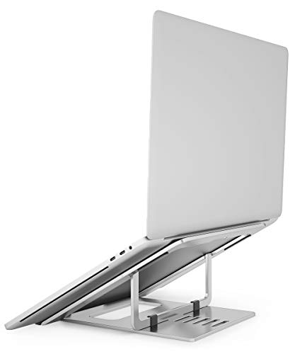 Laptop Stand, Foldable Lightweight Aluminum Ergonomic Portable Laptop Riser, Adjustable Ventilated Stand Holder for MacBook Pro/Air, HP, Dell, Lenovo, Samsung, Acer, Huawei MateBook