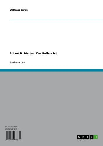 Robert K. Merton: Der Rollen-Set