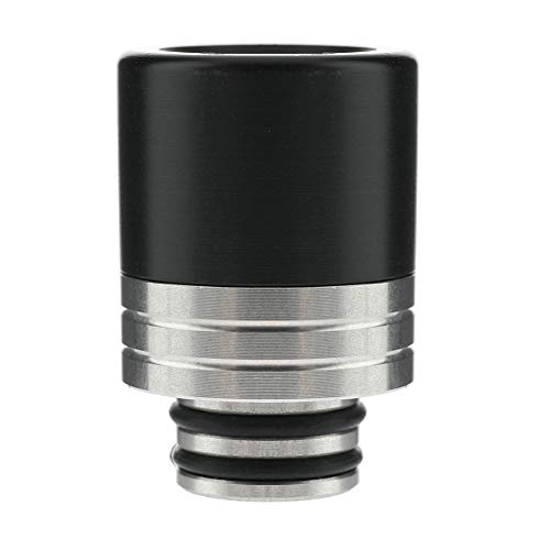 Satelliter 510 Drip Tip, Standard Acrylic and Stainless Steel Drip Tip Connector for Ice Maker Coffee Mod(Black)