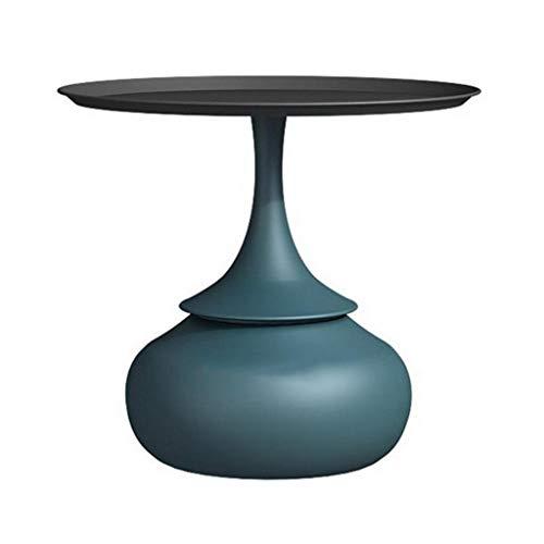 XQKXHZ Tavolini da Salotto, Nordic Nano Struttura del Metallo Tavolino con Top Rimovibile per Il Divano Letto Soggiorno, 20.47 X 22.8 Pollici,Blue2