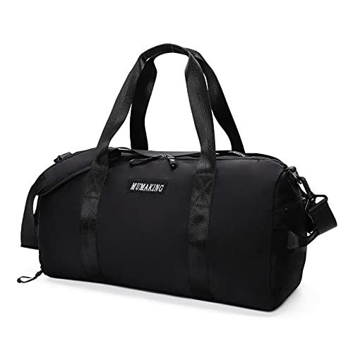 ATRNA Bolsa Deporte, Bolsas Gimnasio Bolso Fin de Semana Viaje con Compartimento para Zapatos Gym Bag