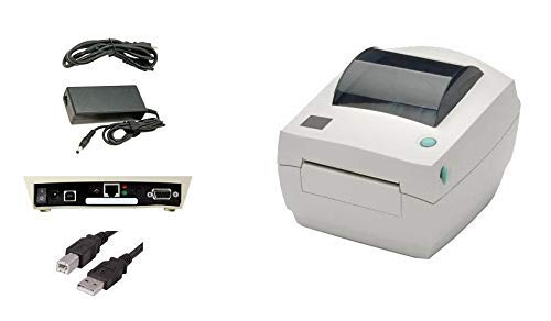 LP2844 Barcode Label Printer, USB and Ethernet Interface, 4 Inch, Direct Thermal, with Power Supply (Renewed)