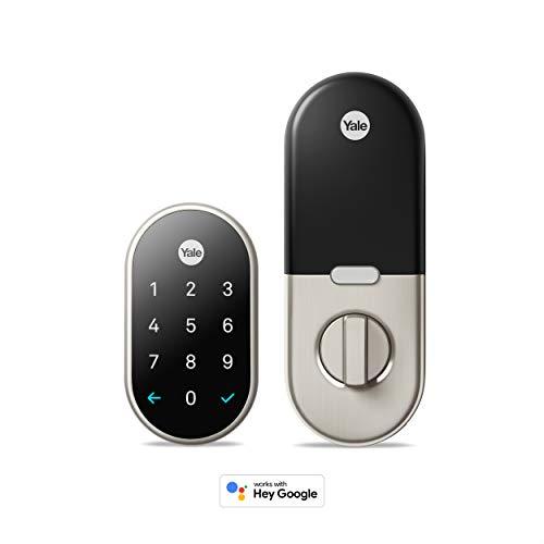 Google Nest Yale Lock - Smart Lock Deadbolt System for Keyless Entry Satin Nickel