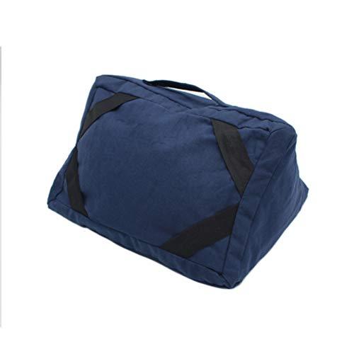 Macabolo Multifunctioneel reiskussen, vliegtuig, halskussen, universeel, tablethouder voor trein en auto, bed, 30 * 22 * 15cm, navy