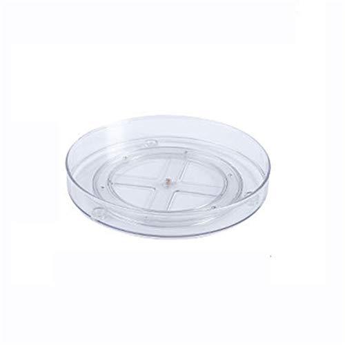 Yuui Rack de almacenamiento giratorio redondo de doble capa, para tocadiscos