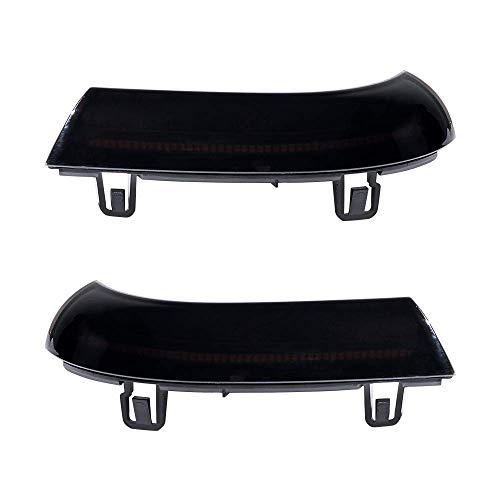 Amber LED Side Mirror Black Smoke Turn Signals Marker Light Compatible with Volkswagen VW GOLF 5 Plus GTI Jetta MK5 Passat B6 EOS Sharan Superb