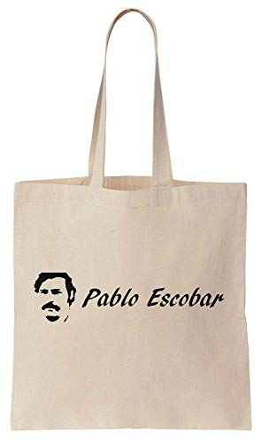 Finest Prints Pablo Escobar Logo Cotton Canvas Tote Bag