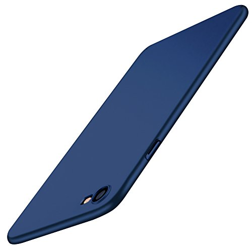 POOPHUNS Cover per iPhone 8/iPhone 7, Custodia per iPhone 8/iPhone 7 in Plastica Dura PC, Ultra Sottile e Anti-Graffio, Cover Ultra Slim per iPhone 8/iPhone 7 Anti Scivolo(4.7 Pollici)- Blu Scuro