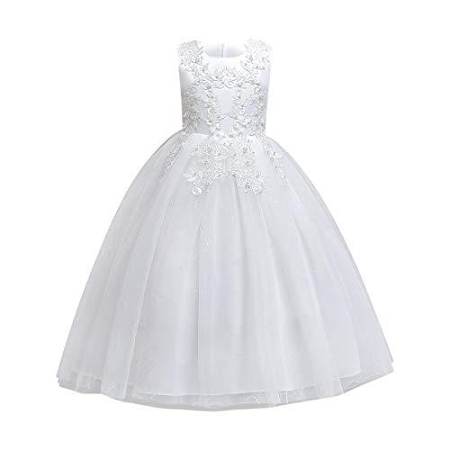Vestido de Ceremonia Niña Vestido de Princesa Elegante Vestido de Dama de...