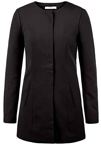 ONLY Maggie Damen Mantel Blazermantel Lange Übergangsjacke, Größe:M, Farbe:Black
