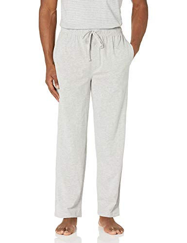 Fruit of the Loom Men's Extended Sizes Jersey Knit Sleep Pant (1-Pack), Light Grey Heather, Medium