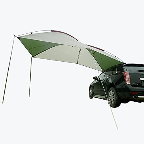 GYAM Carpa para Acampar al Aire Libre Portátil Techo Lateral para automóvil Carpa Trasera para autoconducción Equipo de Viaje Carpa para sombrilla para automóvil a Prueba de Lluvia,Blanco,Glass Rod