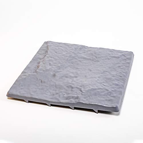 UPP Wegplatten in Stein-Optik I Gehwegplatten aus Qualitäts-Kunststoff I Mit unseren Gehwegplatten ganz einfach zum Gartenweg I Trittsteine schützen Ihren Rasen und Beete [4 STK. 30 x 30 cm]