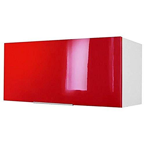 Berlioz Creations - Mueble Alto de Cocina sobre Campana extractora, Otros, Rojo Brillante, 80 x 34 x 35 cm