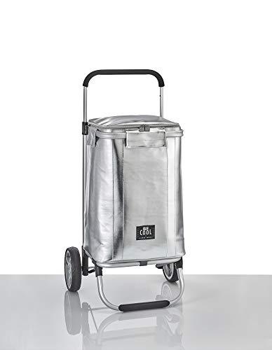 Be Cool Einkaufstrolley Kühltrolley Kühl-Trolley in Silber 30 x 25 x 48 cmH 36 Liter Volumen. Leichter Einkaufswagen