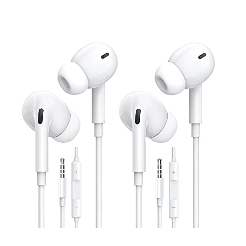 Earbuds/Earphones, Wired Headphones, 3.5mm in-Ear Wired Earbuds with Built-in Microphone & Volume Control Compatible with iPhone 6s plus/6/5s/5c/S10/iPad/Android Mostl 3.5mm Devices Plug and Play