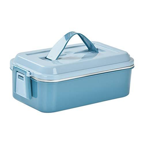 Pesine Lebensmittelvorratsbehälter Bento Box Edelstahl Haltbare Lebensmittelbox Mahlzeit Obst Snack Packbox für Studenten Erwachsene 1St